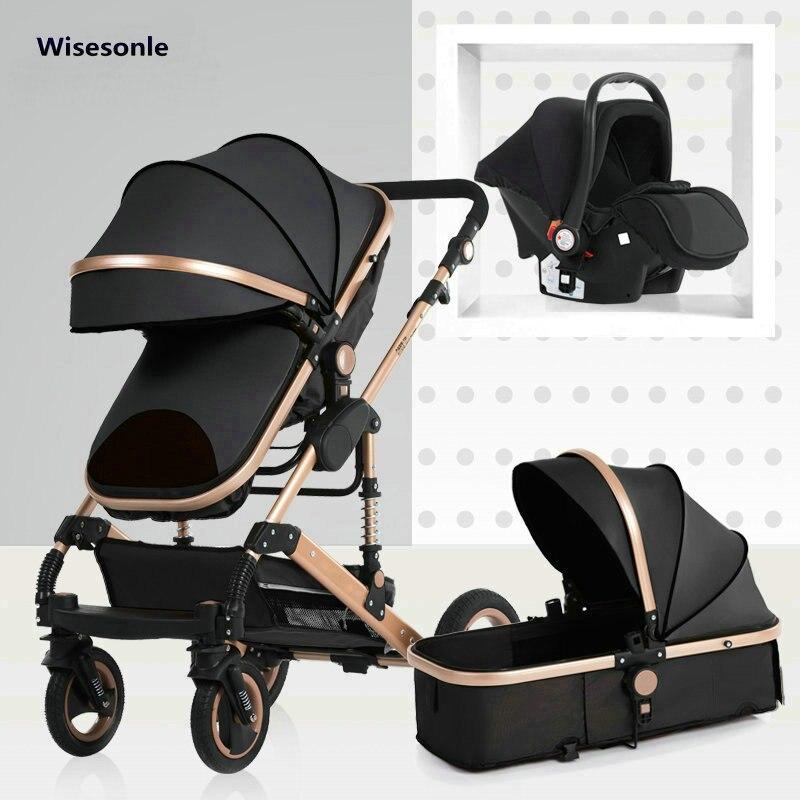 2019 nowy wózek dla dziecka wysokiej krajobrazu 3 do 1 wózek dla dziecka podwójna obliczu dzieci darmowa wysyłka w cztery pory roku rosja