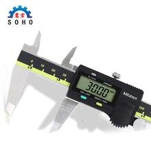 150 мм 6 дюймов электронный цифровой суппорт 6 дюймов цифровая линейка из углеродного волокна штангенциркуль Калибр микрометр измерительный инструмент