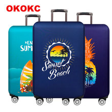 Thickest Luggage cover Travel Suitcase Protective Cover Suitable for 18-32 inch Trolley elastic dust cover Travel accessories недорого