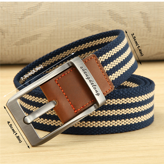 MEDYLA new canvas belt outdoor tactical men women high quality canvas alloy buckles belts for jeans