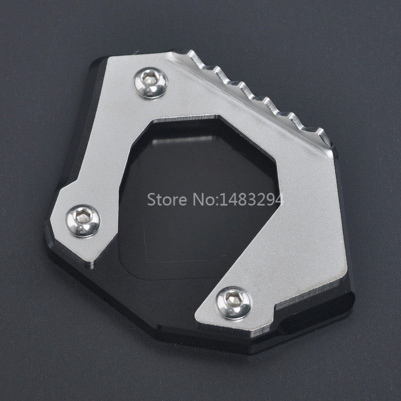 Aluminum Side Kickstand Stand Extension Support Plate For BMW F700GS 2013-2017