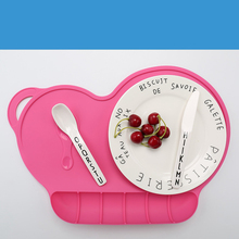 4 Colors Baby Silicon Plate Sucker Slip-resistant One Piece Silicone Placemat Bowl Waterproof  Kid Dinner Tableware
