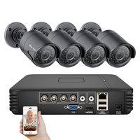 Techage 4CH CCTV System 720P HDMI AHD CCTV DVR 4PCS 1.0 MP IR Outdoor Security Camera 1200 TVL Camera Surveillance Kit 2TB HDD