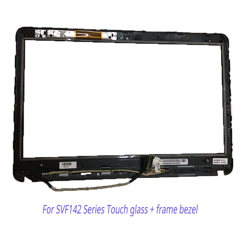 New for sony vaio SVF142 SVF142C29L SVF142C29M touch screen digitizer bezel