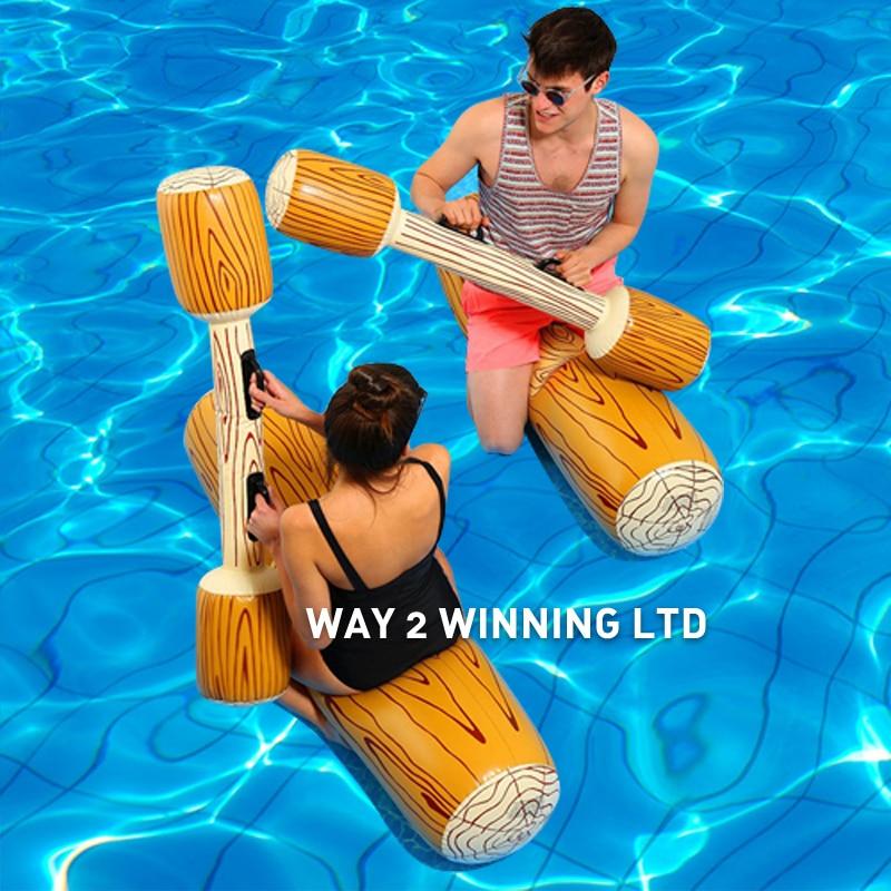 4 pièces/ensemble joute piscine flotteur jeu jouets Ride-on gonflable Sport aquatique jouet pour enfants adulte gladiateur radeau boia