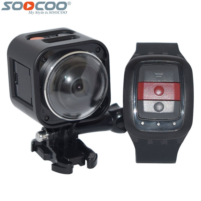 SOOCOO Cube360H Wifi 360 Degree Panorama VR 4K Camera 1080P 60pfs Full HD LCD Screen Mini Sport Action Camera+Remote Controller