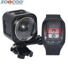 SOOCOO Cube360H Wifi 360 Grados Panorama VR 4 K Cámara 1080 P 60pfs Pantalla LCD Full HD Mini Acción Del Deporte cámara + Remote Controller