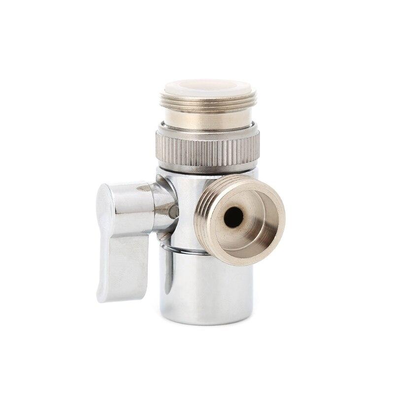 Nuevo baño cocina latón válvula fregadero grifo desviador Splitter adaptador de manguera M22 X M24 caliente