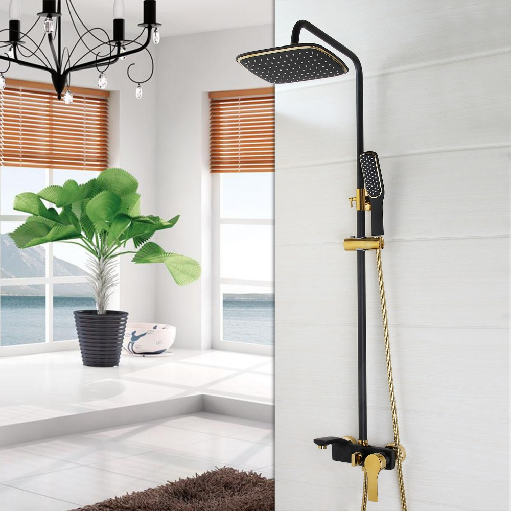 KEMAIDI Rainfall Shower Set ORB Faucet Bathroom Shower Single Handle ...