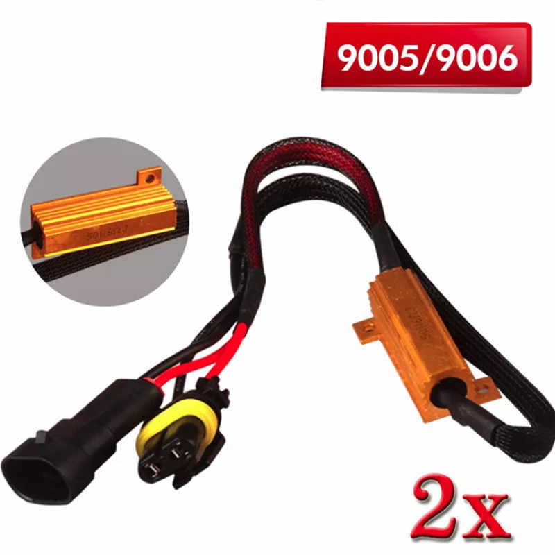 Led Canbus Decoder H4 H7 H8 H11 9005 HB3 9006 HB4 50W Load Resistor Error Canceller Wire Harness Adapter Car Fog Lights