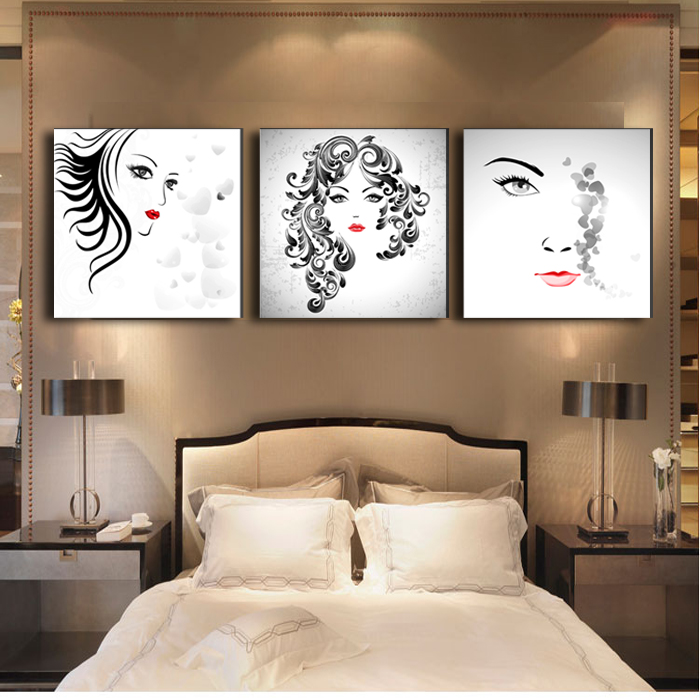 wall art decor for living room.htm beautiful face 3 piecese canvas paintings pictures for living room  piecese canvas paintings pictures