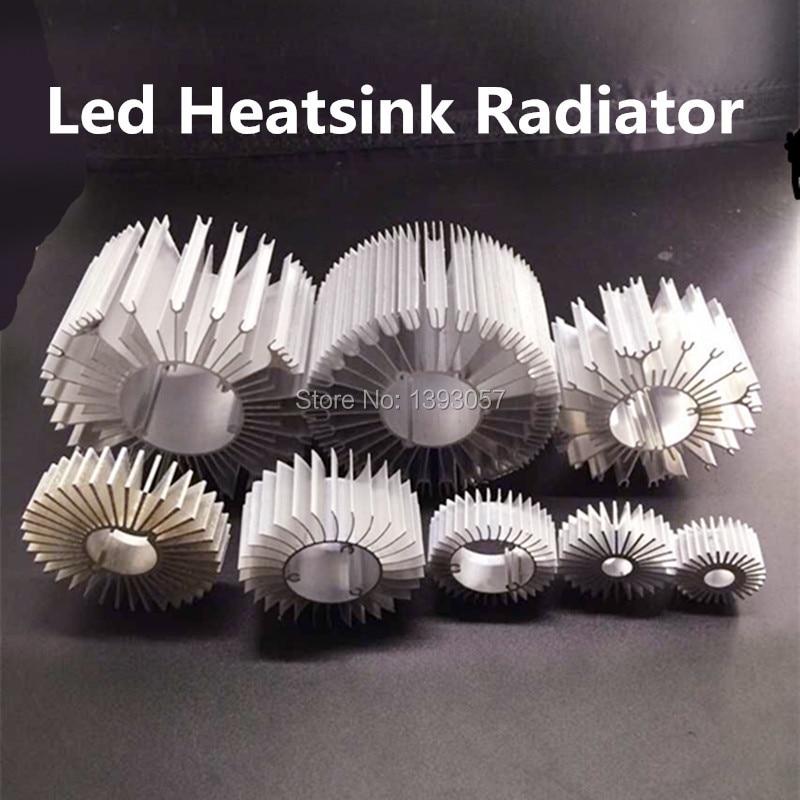 5pcs/lot LED Heatsink Aluminum Base Radiator For 1W-36W High Power LED Cooler Sunflower UFO Round   PCB Radiator LED Lamp DIY