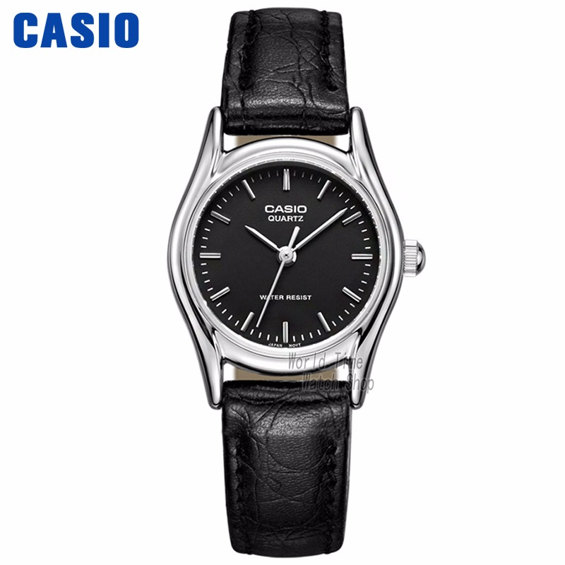 1f67e67aac27 Reloj Casio analógicas las mujeres reloj de cuarzo de moda Simple  impermeable puntero reloj con correa
