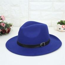 MUQGEW Otoño Invierno imitación lana sombreros mujeres hombres señoras Top  Jazz sombrero Europeo Americano ronda gorras 5286325af5a