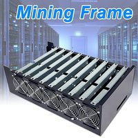 9GPU DIY Crypto Coin Open Air Mining Server Frame Rig Graphics Case + 10 Fans for ATX Computer Mining Case Frame Server Chassis
