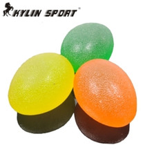 Tasteless green silicone massage ball  children sensory integration training equipment tactile grip