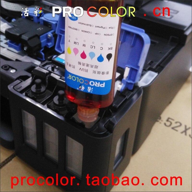 ФОТО GI-190BK Pigment ink GI-190C Dye ink refill kit for Canon PIXMA G1100 G2100 G3100 G4100 G 1100 4100 3100 ciss ink tank printers