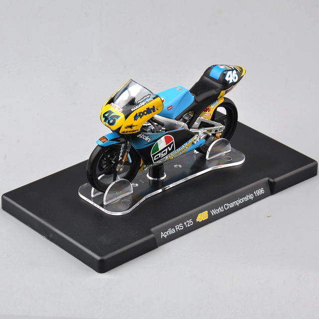 IXO-Altaya 1/18 VALENTINO Rossi Aprilia RS 125 #46 Motorcycle Model World Championship 1996 Motorbike Model Kids Collection Toys