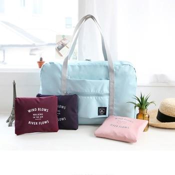 New Fashion Large Capacity Women  Luggage Travel Bag Nylon Folding Luggage Bag Pouch WaterProof Men Travel  Handbags Wholesale Travel Bags & Luggage