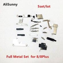 AliSunny 5 مجموعة الداخلية كامل المعادن مجموعة قوس حامل آيفون 8 جرام 8 زائد X XS داخل أجزاء صغيرة درع لوحة مجموعة أطقم أجزاء