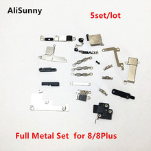AliSunny 5set inner Full Metal Set Bracket Holder for iPhone 8G 8Plus X XS Inside Small Parts Shield Plate Set Kits Parts