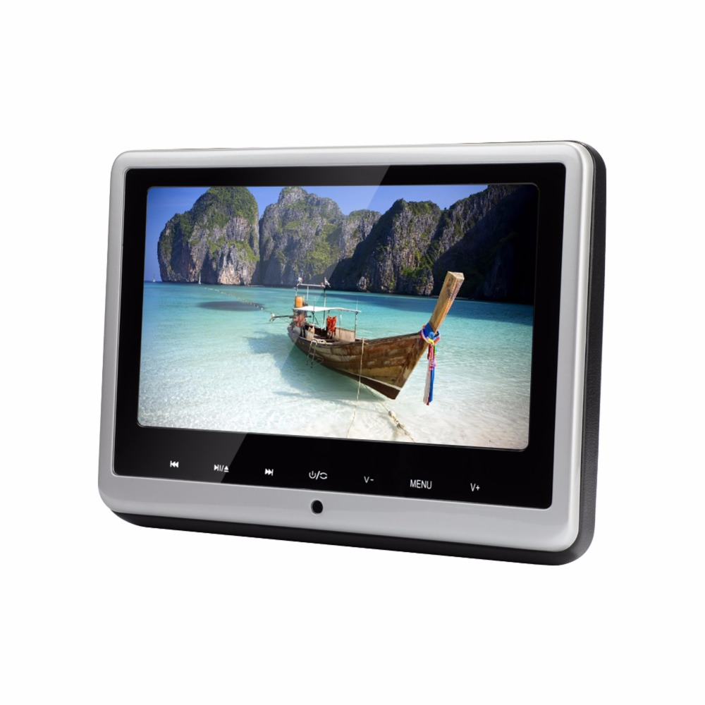 car dvd player 101 inch hd wide car headrest monitor usbsd luxury leather wrap media player for for kids with remote control