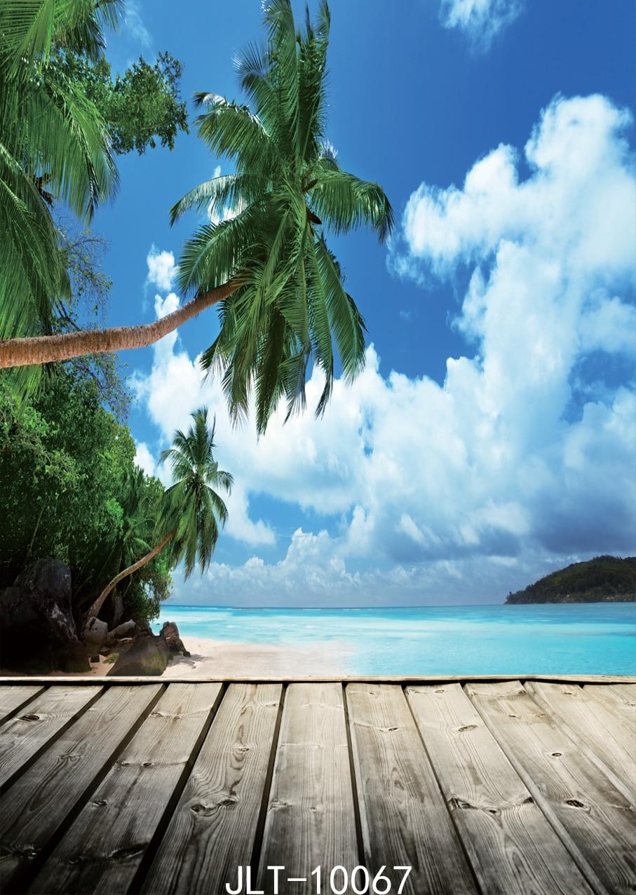 SJOLOON5x7ft mar azul y fondo de playa de cielo claro Foto de fondo - Cámara y foto