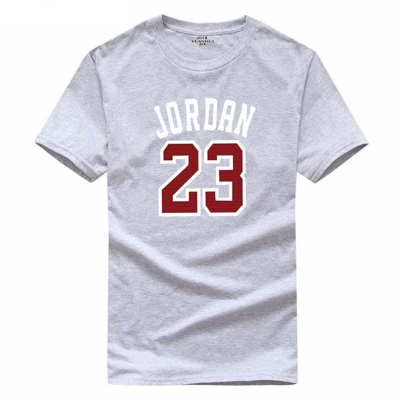 2017 Michael Jordan 23 high quality T-Shirt Cotton Print Men T shirt Homme Fitness Hip Hop Tshirts tee shirt men