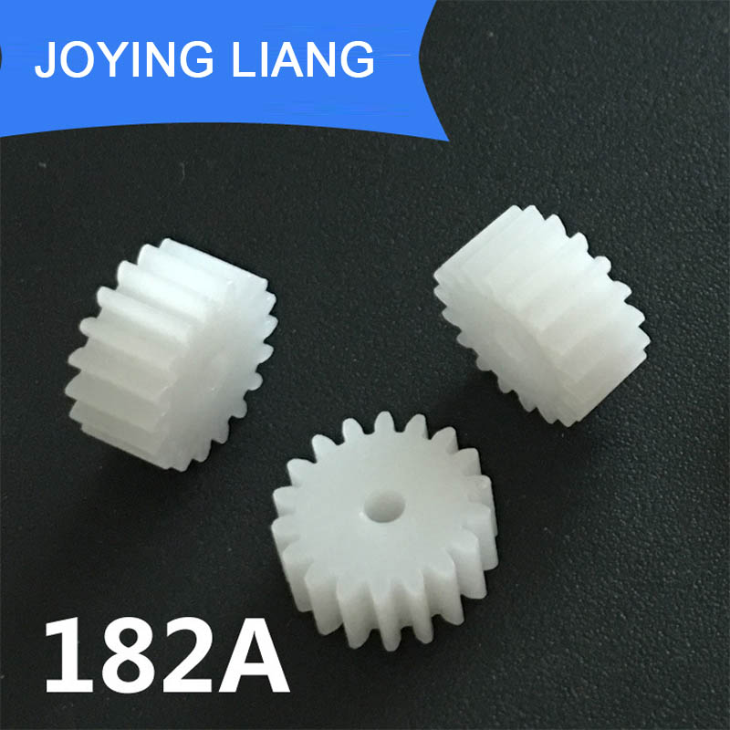 182A Module 0.5M Gear 18 Teeth Plastic Gear Motor Fitting Parts Toy Accessories 10pcs/lot