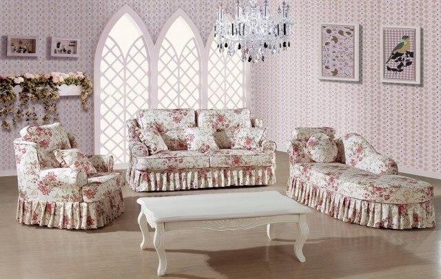 Moderne Italienische Wohnzimmer Funiture Für Blumenmuster Und Blaue Farbe  Sofa Set Mit Chaiselongue Sofa
