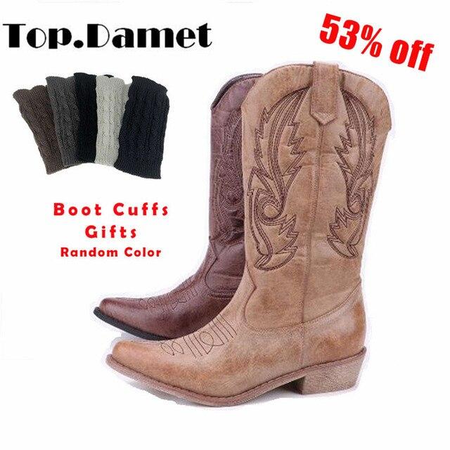 square toe cowboy boots 5