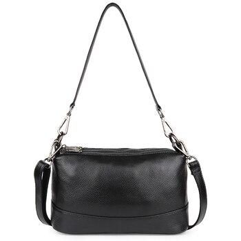 Fashion 3 Zippers Opening Totes Cross-body Bags Multi-function Shoulder Messenger Luxurious Genuine Leather Women Handbags - discount item  31% OFF Women's Handbags