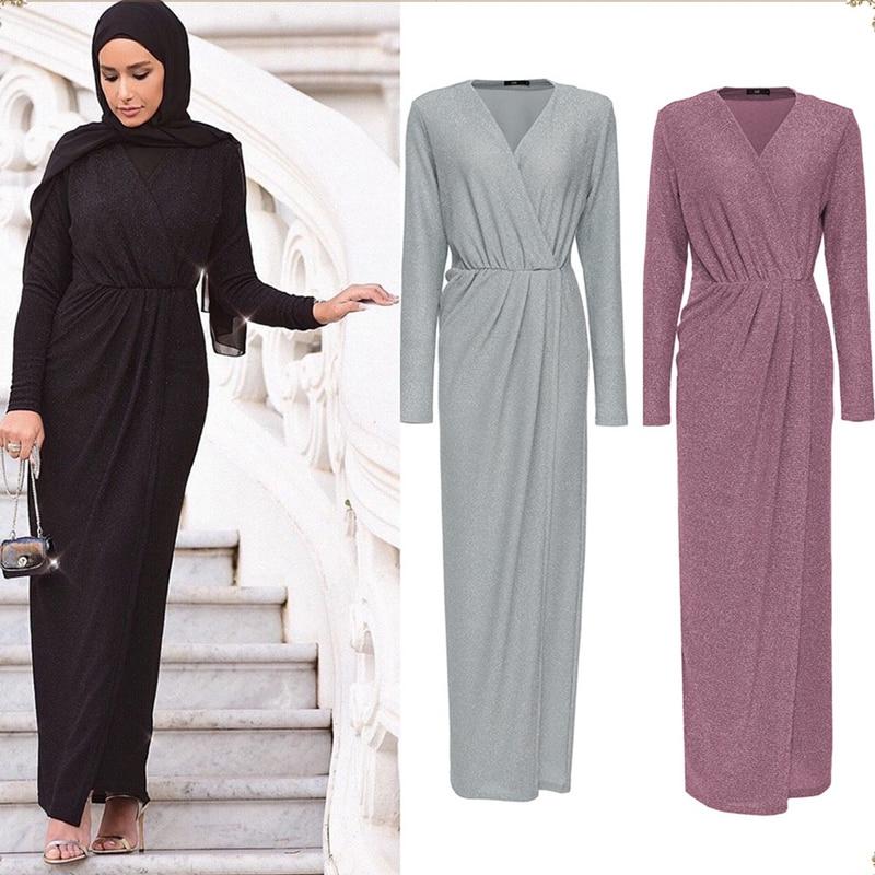 Sequin Abaya Femme Muslim Hijab Dress Turkey Kaftan Robe Dubai Abayas For Women Ramadan Caftan Marocain Elbise Islamic Clothing