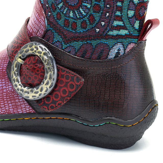 Adair Patterned Genuine Leather Boots