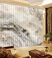 Blackout Curtain marble Bedroom Curtains Wedding Room for Living Room Custom Window Curtains