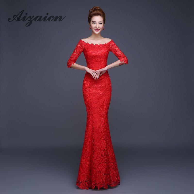 Módní zelené dlouhé krajkové večerní šaty Čínské svatby Qipao Cheongsam  Dámské sexy šaty Party šaty 3 Barv. 229f50a022b