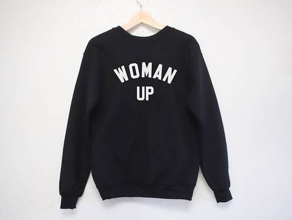 e29160d3e2aa Woman Up Sweatshirt Feminist pullovers moletom do tumblr casual tops  aesthetic sweatshirt Jumper blusa tumblr girl casual tops -in Hoodies    Sweatshirts ...