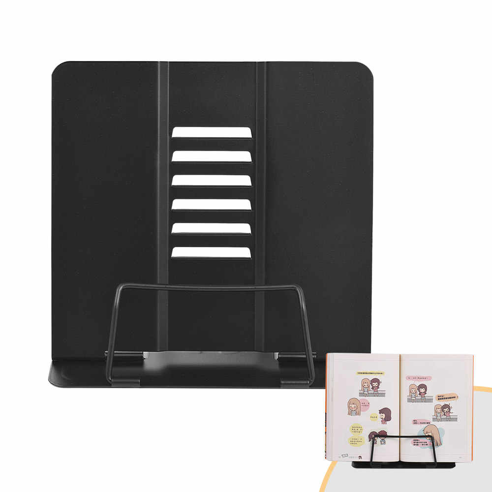 Office/School Bookstand Bookshelf Document Holder Steel Book Holder Adjustable Six Angles Reading Tool for Magazine Document