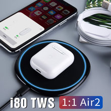 I80 TWS 1:1 réplica Pop up uso separado inalámbrico Bluetooth 5,0 auricular QI carga inalámbrica Super Bass i80 TWS PK i20 i30 i60(China)