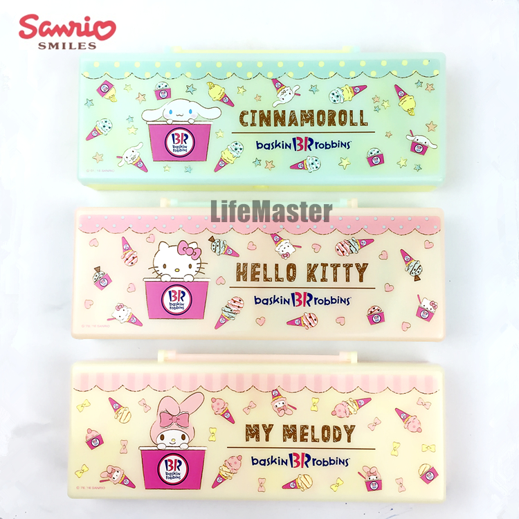LifeMaster Sanrio Pencil Pastel Color Case My Melody/Hello Kitty/Cinnamoroll (Baskin Robbins) Cute Cartoon Non-Toxic меховые наушники sanrio hello kitty