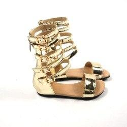 الرومانية الأحذية ستوكات الطفل أحذية المصارع الأولى مشوا الفتيات الطفل الأخفاف البريدي حذاء طفل 13-18.5 سنتيمتر