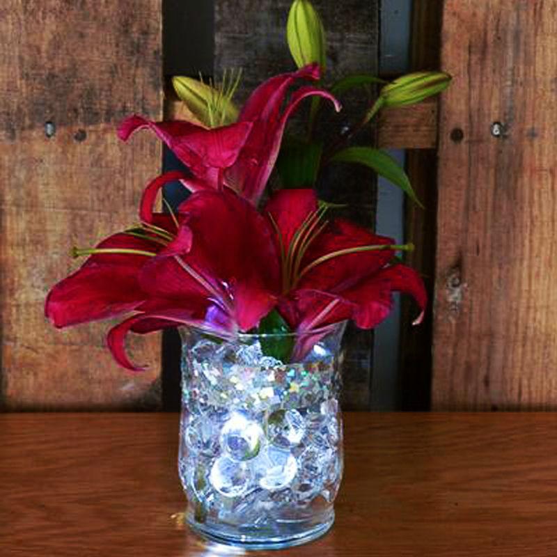 50leds Warm White Submersible Wedding Centerpieces Lighting Vase