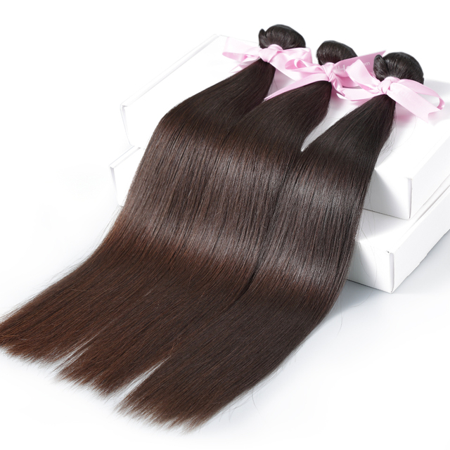 Luvin Mink Brazilian Hair Weave Bundles Straight Hair 3 Bundles 100% Remy Human Hair Extensions Natural Color 30 Inch Bundles