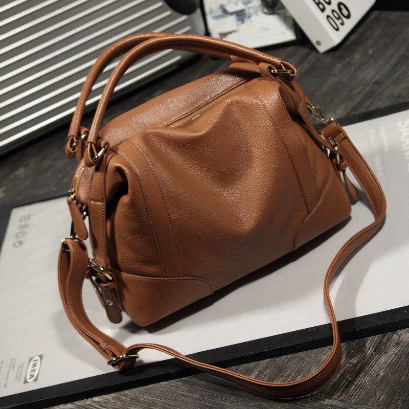 2018 New Arrivals Black Big Famous Top handle Hobos Bag Handbags Women Bag  Soft Leather Zipper Ladies Shoulder Bag Hobos Bags-in Top-Handle Bags from  ... c3443c709f