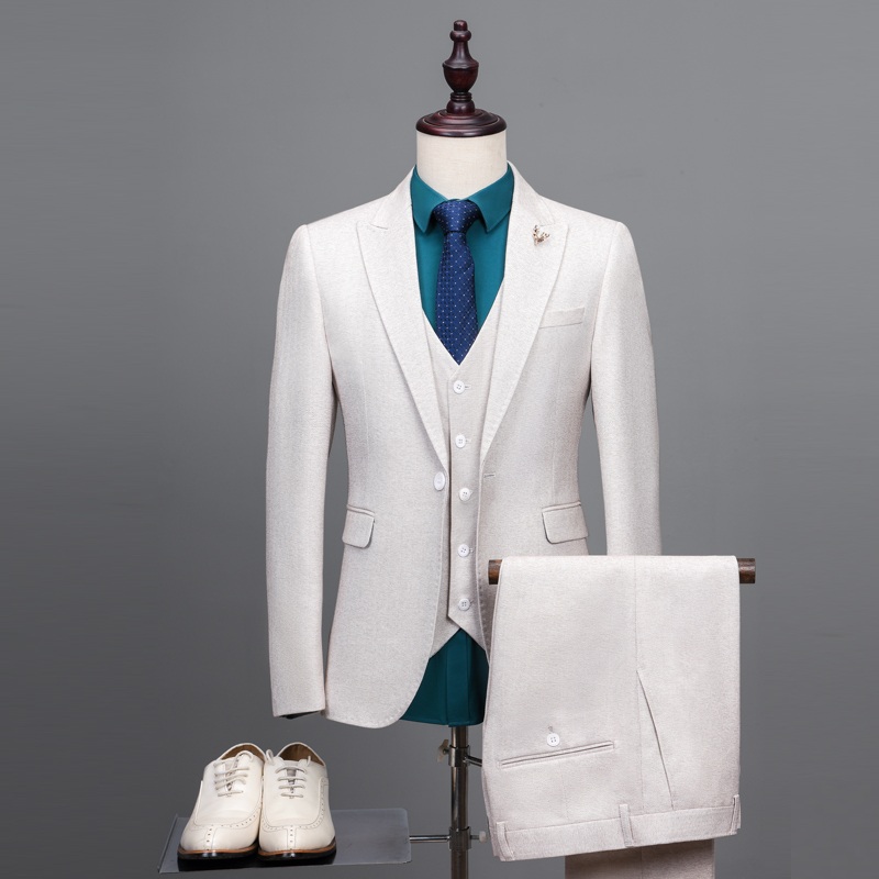 NA41 2018 Jaqueta blanc cassé mariage smoking sur mesure costumes marié costume hommes veste de smoking sur mesure Tuxedos de mariage