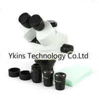 Trinoküler Stereo Mikroskop Kafası Endüstriyel mikroskop telefon anakart tamir Için 7-45X zoom Sürekli Büyütme
