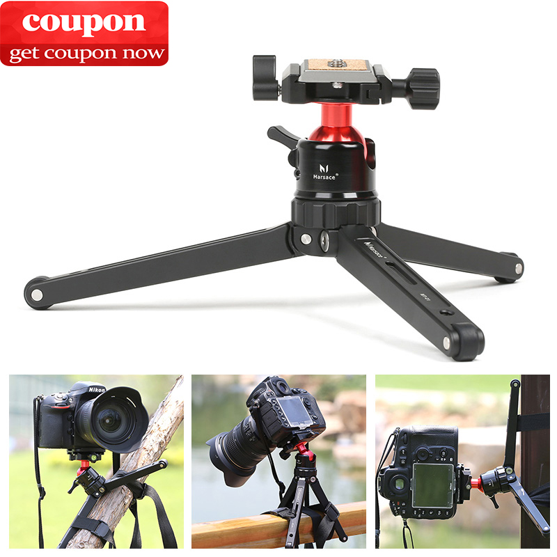 Aluminum Mobile Tripod DSLR Camera Travel Tripode with Ball head&Quick Release Plate for iPhone Canon Nikon SLR Photographer