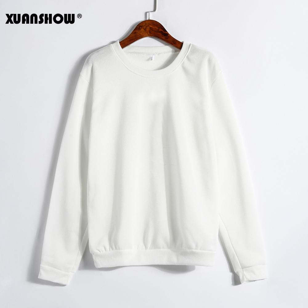 b0eb5b95f2d99 XUANSHOW Spring Autumn Winter Unisex Sold Color Clothes Fleece Long Sleeve  Man Woman Pullover Moletom Sudadera Mujer S-5XL ~ Perfect Sale June 2019