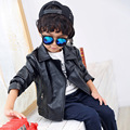 kids boys winter Pu jacket black pu zipper coat jackets of boys infant baby boy clothing warm coat children's leather jackets