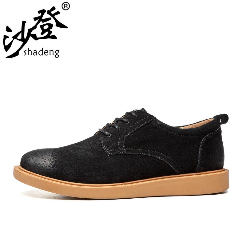 De À kaki Fond Cuir Chaussures Respirant La Mode Shadeng Sont Noir Et Confortables En Hommes Plat gris Foncé Portable qTtxcAHvw